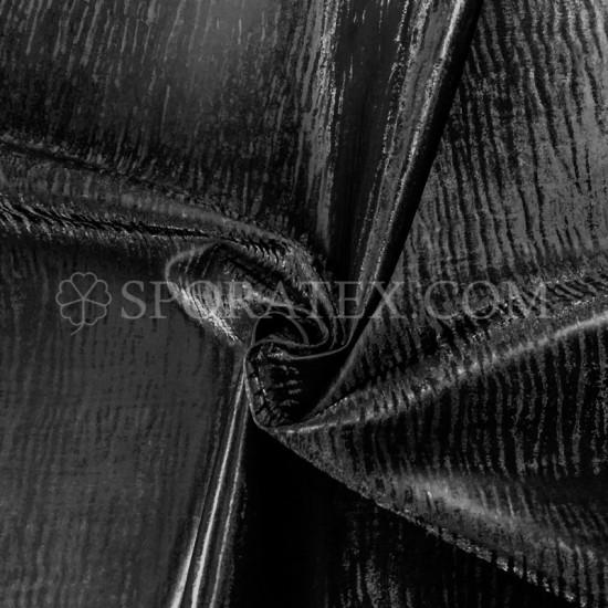 Изкуствена кожа за тапицерия - Бенгал - черна