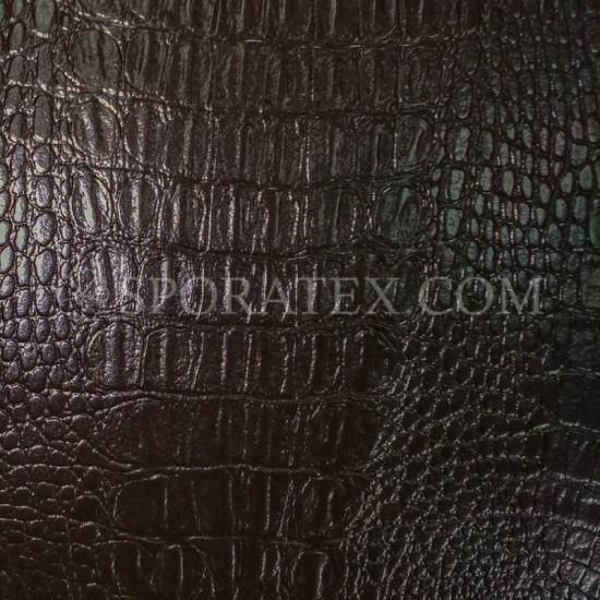 Изкуствена кожа за тапицерия - Крокодил - кафяв