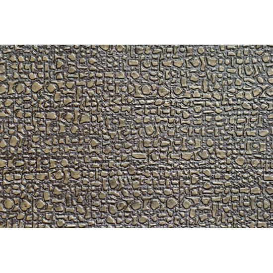 Изкуствена кожа за тапицерия - Мозайка -кафява