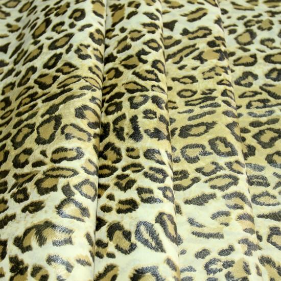 Изкуствена кожа за тапицерия - Леопард - пясъчен