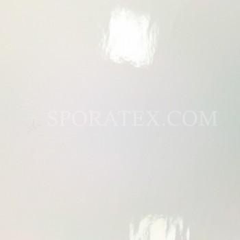 Лачена кожа - бяла лачена кожа с огледален ефект