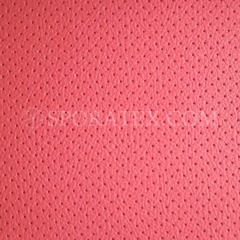 Серия P - Червена перфорирана автомобилна изкуствена кожа за волани и седалки